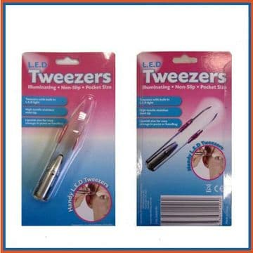 Hand Tweezers with LED Light - Perfect for Models Hobby Jewellery Design Repair